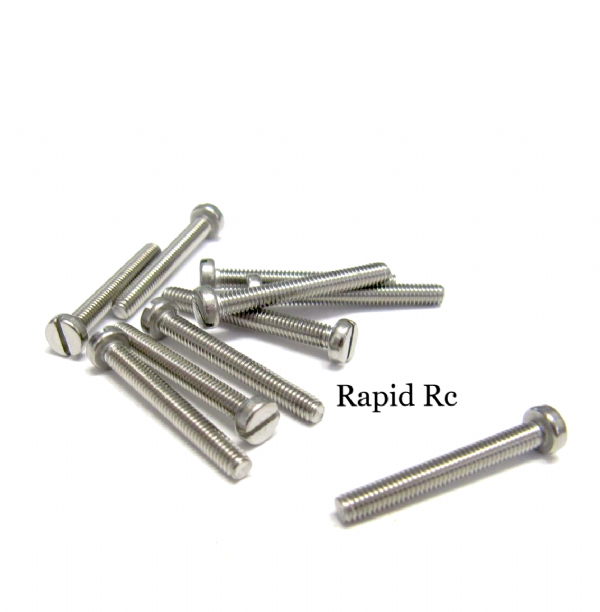 Stainless Steel Slotted Machine Screw M2 x 20mm